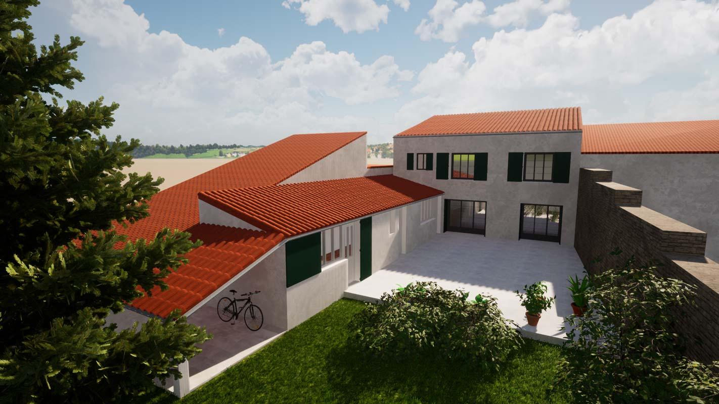 Extension et rénovation des façades d'une maison à La Rochelle
